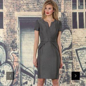 Nue by Shani Gray Metallic Polka Dot Elegant Dress